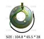 PK-05 (24V) - Behúzó Mágnestekercs 104.8*65.5*28mm - NISSAN - HITACHI DKS17D- DKV14C - Klímakompresszorhoz