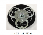 QK-09 - 112*22.4mm - Kuplung Nyomólap - DKS15D/17D - ZEXEL - MITSUBISHI, NISSAN