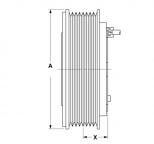 11115089 - Mágneskuplung készlet  Klímakompresszorhoz, DENSO 10PA PV8 24V 145MM